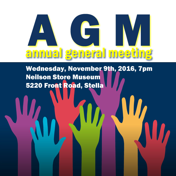 Amherst Island Radio Annual General Meeting - Wednesday, November 9th, 2016, 7pm, at Neilson Store Museum, 5220 Front Road, Stella