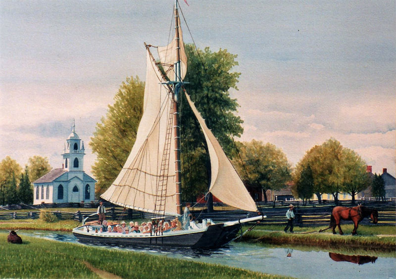 The commission Upper Canada boat by Shirley Miller
