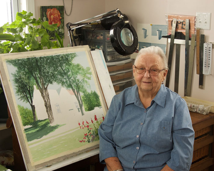 Shirley Miller, artist, photo by Lynn Wyminga