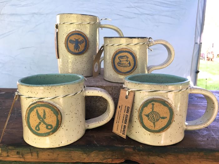 Caboose Co's silk screened pottery camp mugs