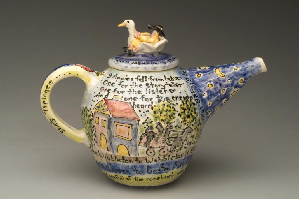 Mother Goose tea pot by Karen Franzen