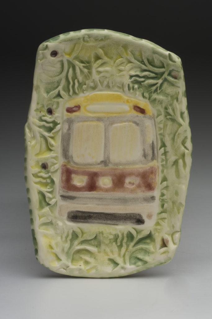 506 Streetcar plate by Karen Franzen