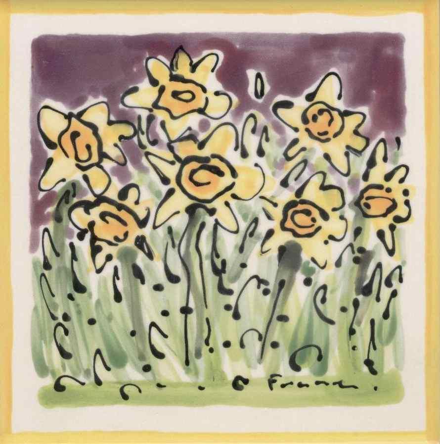 Daffodil tile by Karen Franzen