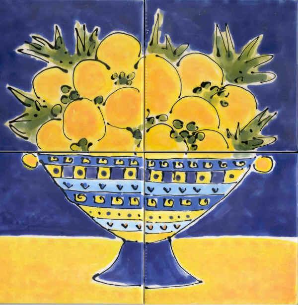 Karen Franzen's bowl of lemons tile piece we discuss in the interview.